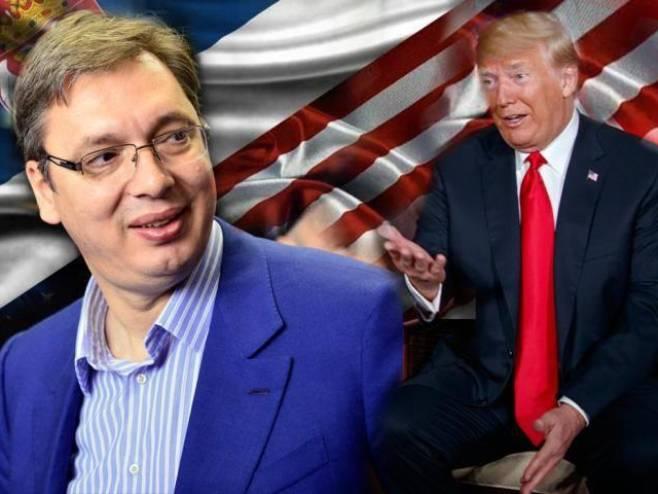 Vučić i Hoti potpisuju sporazum u prisustvu Trampa