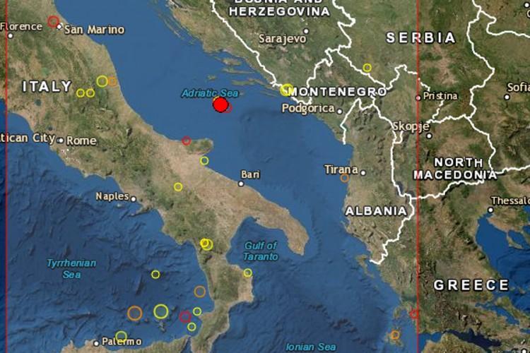 Novi potres u Jadranu