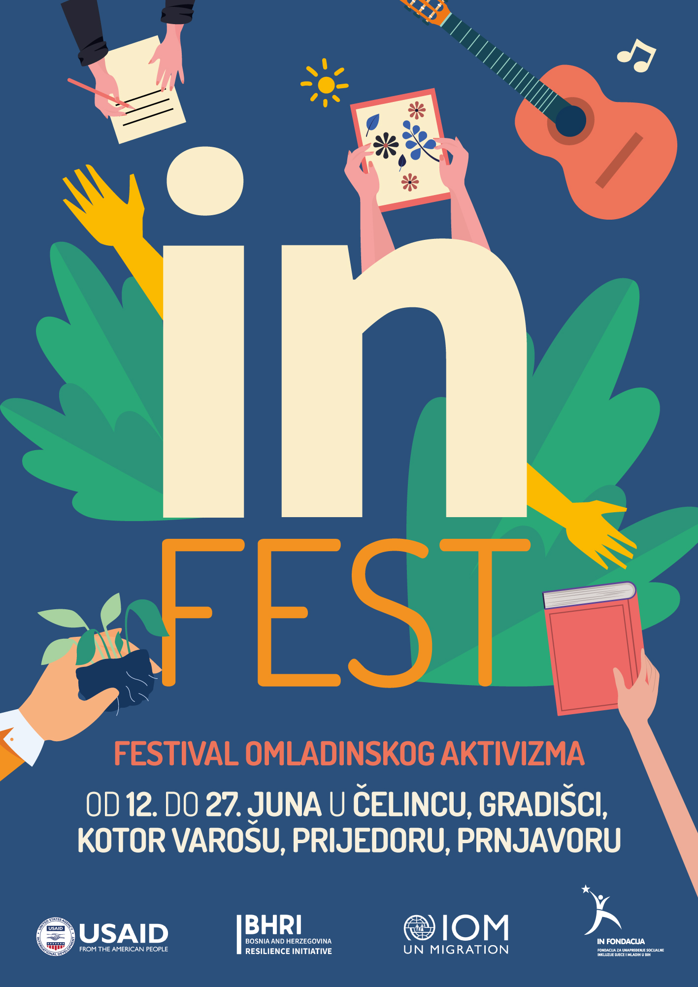 Od 12. juna u Čelincu, Gradišci, Prijedoru, Prnjavoru i Kotor Varošu počinje IN Fest!